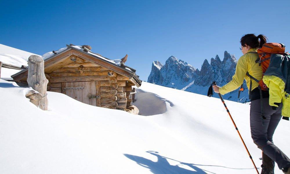 Schneeschuhwanderung rund um die Geislerspitzen