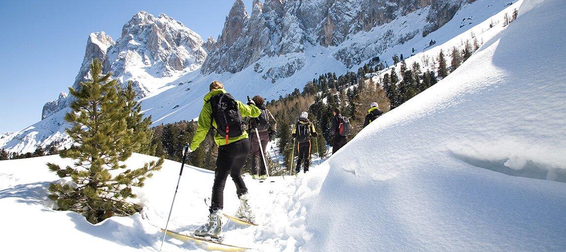 Itinerari di sci alpinismo-funes